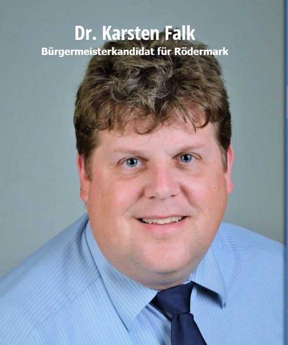 Bürgermeisterkandidat für Rödermark. Dr. Karsten Falk