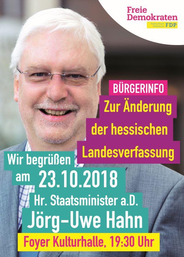 Uwe Hahn in Rödermark zur Landesverfassung
