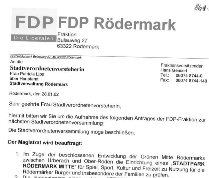 FDP Stadtpark Roedermark