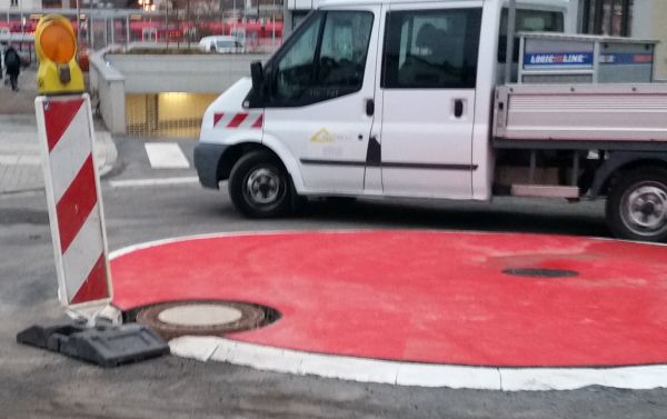 Kreisverkehr Odenwaldstraße
