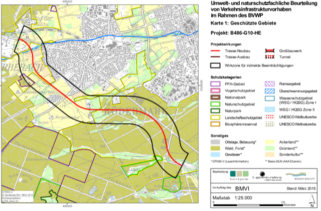 Strassentrasse  Bndesverkehrswegeplan_2030Strassentrasse  Bndesverkehrswegeplan_2030