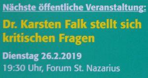 Fragen an Dr. Karsten Falk.