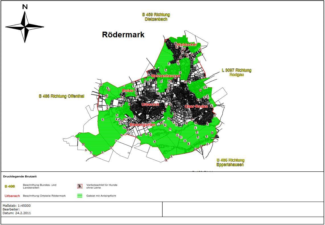 Leinenzwang in Rödermark