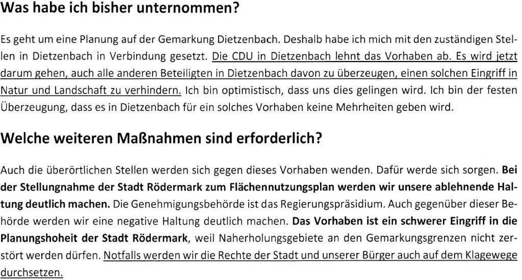 Q-Sand. Wahlkampf-Flyer J. Rotter