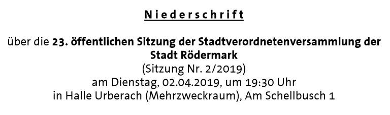 Niederscrift Stavo 02.04..2019