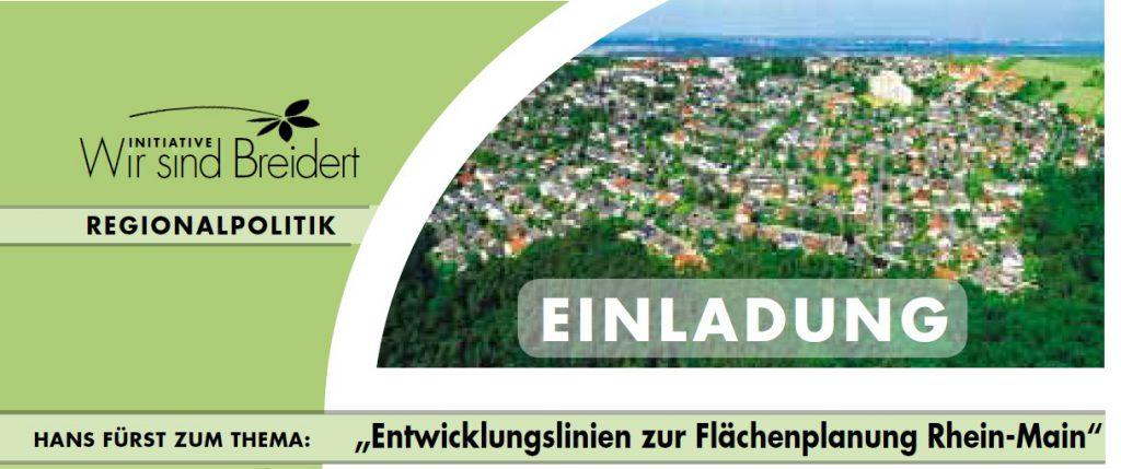 Flächenplanung Rhein-Main