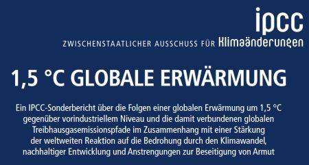 Klimawandel. IPCC-Bericht