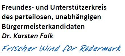Dr. Karsten Falk. Kandidat für den Ersten Stadtrat.