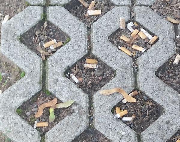 Zigarettenstummel. Irgendwo in Ober-Roden.