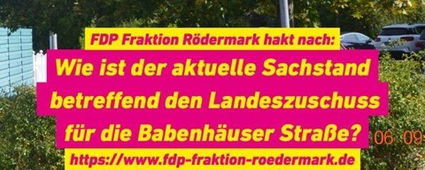 Sachstand Babenhäuser Straße