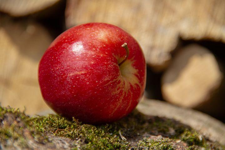 Der erste Apfel aus Rindfleisch.