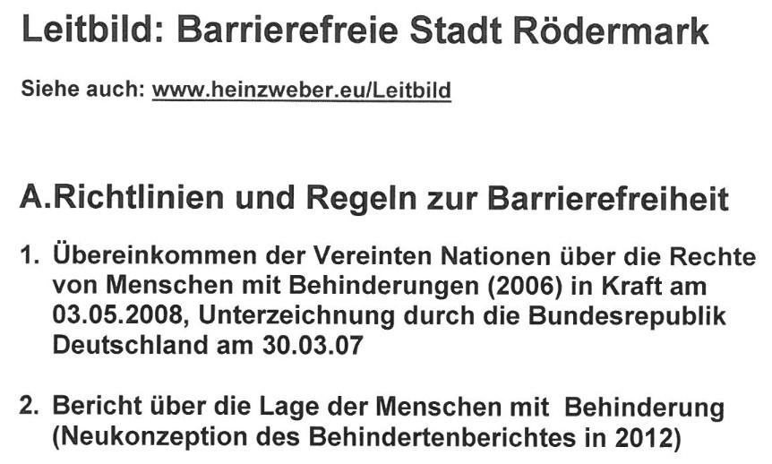 Leitbild Barrierefreie Stadt Rödermark
