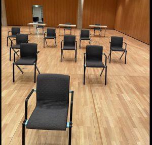 Sitzordnung während der Coronakriese