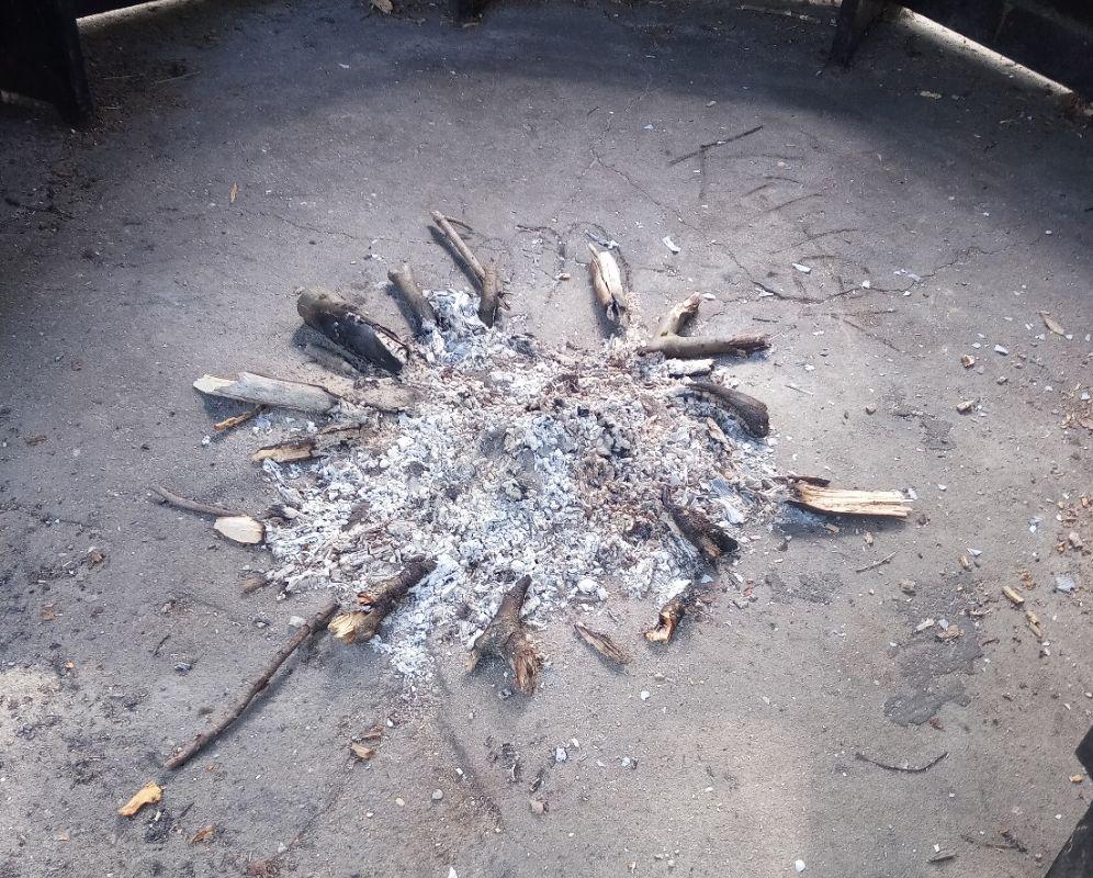 Feuerstelle im Breidert.