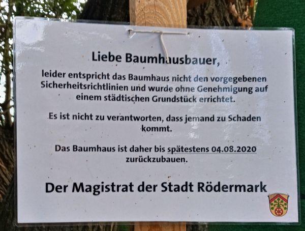 Baumhaus an der Rodau