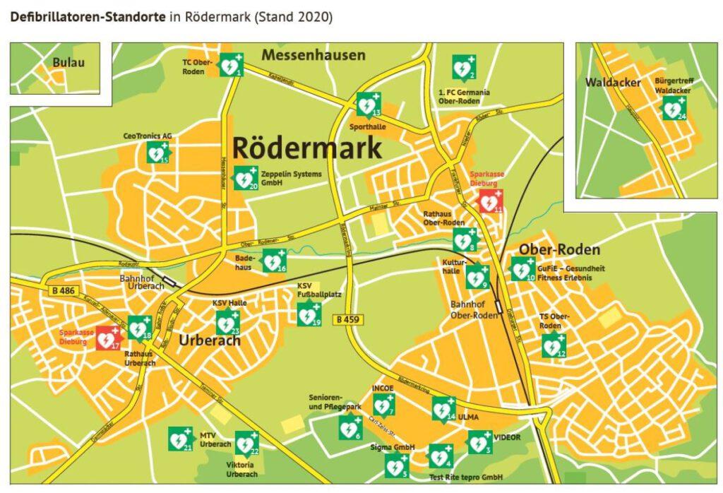 Defibrillatoren in Rödermark