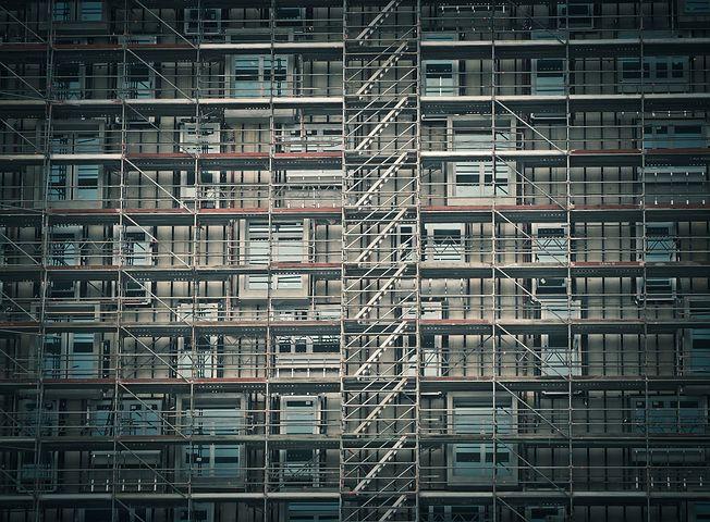 Neubau von Wohnungen. Symbolbild