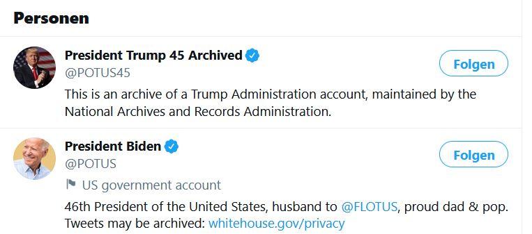 Trump ist bei Twitter Geschichte