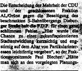 Bahnunterführung Dieburger Straße. 1995