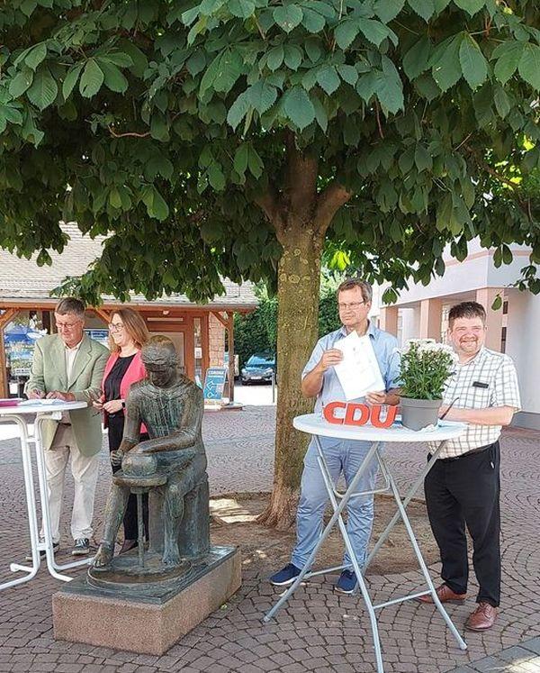 Unterzeichnung Koalitionsvertrag. CDU/AL