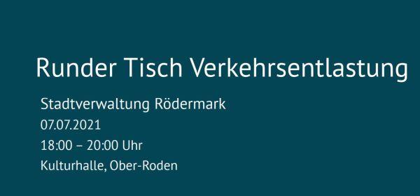 Runder Tisch Verkehrsentlastung 7.7.2021