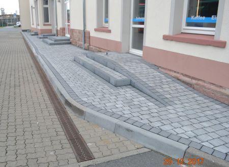 Barrierefreier Zugang zu den geplanten Toiletten.